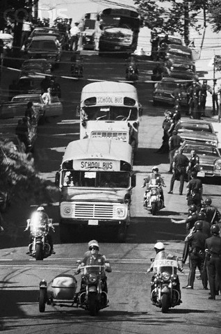 """boston forced busing Remarked, """"i didn't want to get into a debate regarding forced busing in boston the intent of the law i agree with, but the way it was implemented in boston,."""