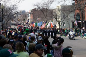 The annual St. Patrick's Day parade down Broadway in South Boston.